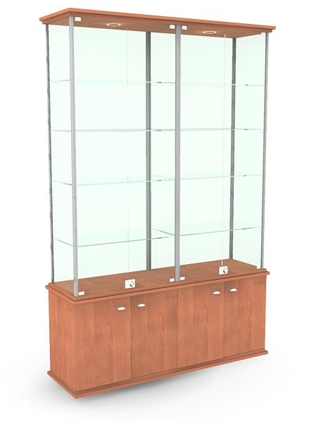 182 Стеклянная витрина из профиля